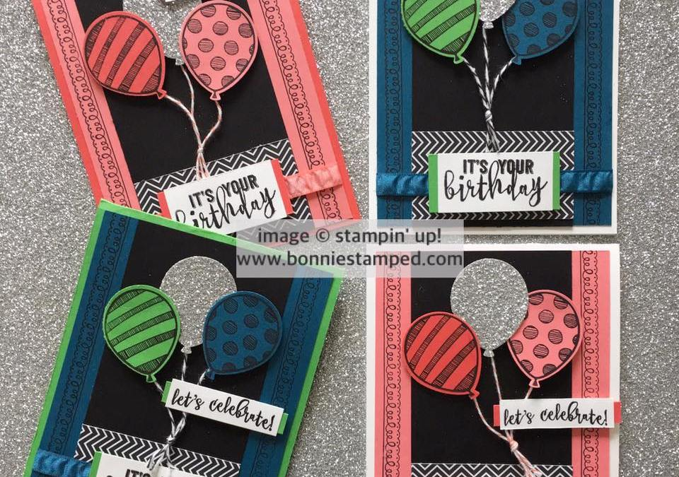 Making Birthday Cards with the Balloon Adventures Stamp Set!