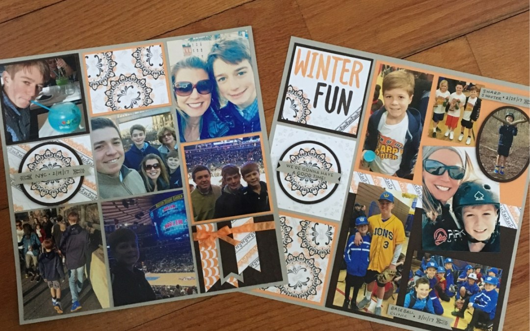 2 Sale-a-bration Stamp Sets highlighted on March's Scrapbook Pages!