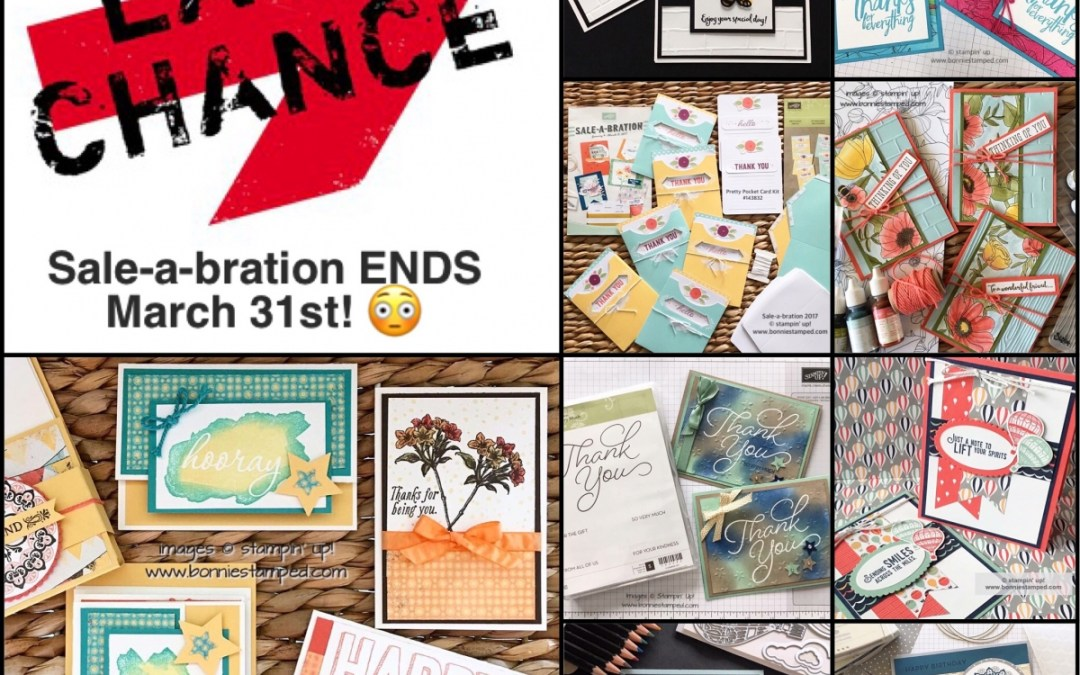 Last Chance for Sale-a-bration 2017 Products!