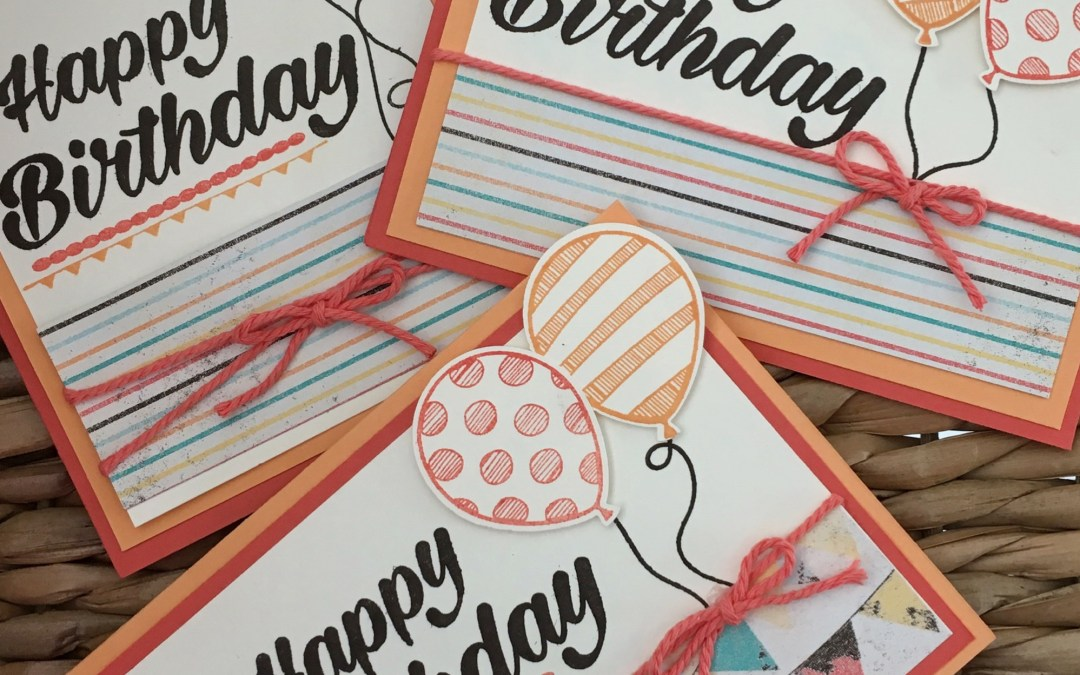 Birthday Cards featuring 4 RETIRING PRODUCTS!