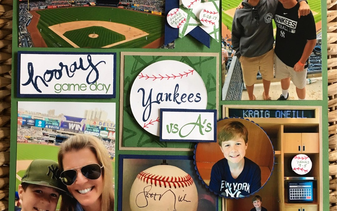Baseball Scrapbook Page to highlight our day!