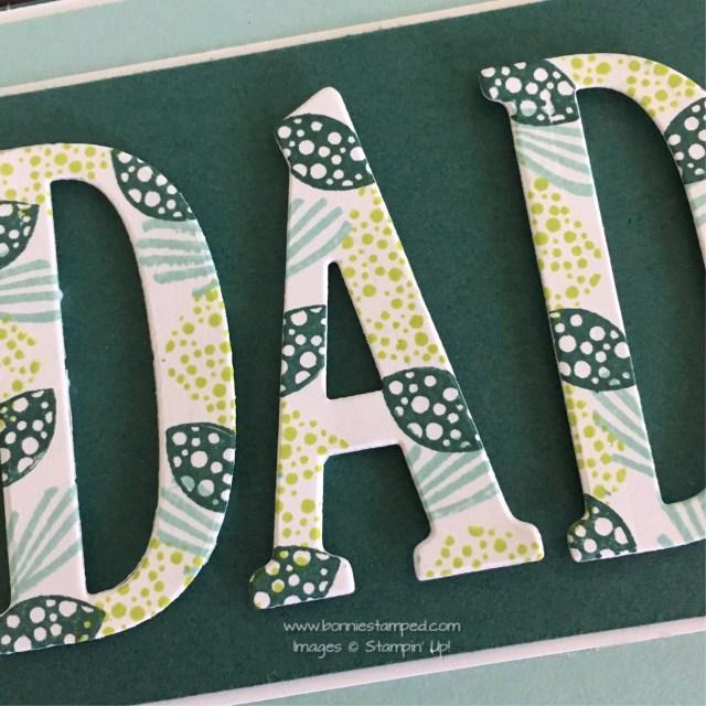 #largeletterframelits #bonniestamped #incolors #dad #fathersday #stampinup