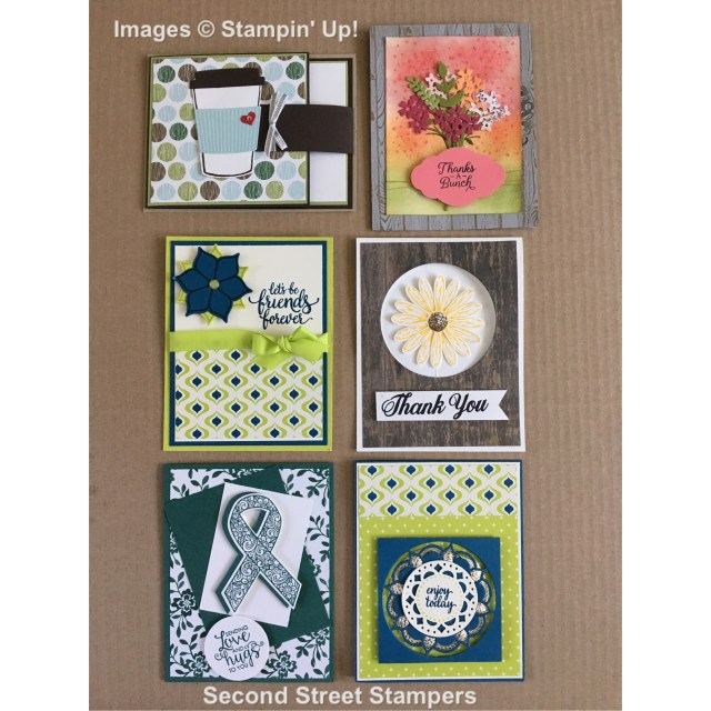 #secondstreetstampers #august2017 #cardswap #bundles