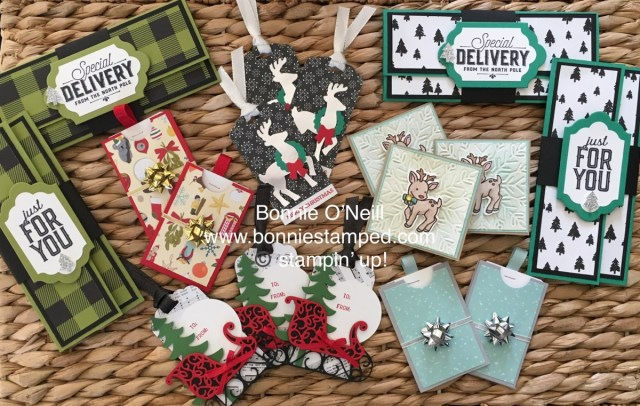 #christmastags #bonniestamped #stampinup