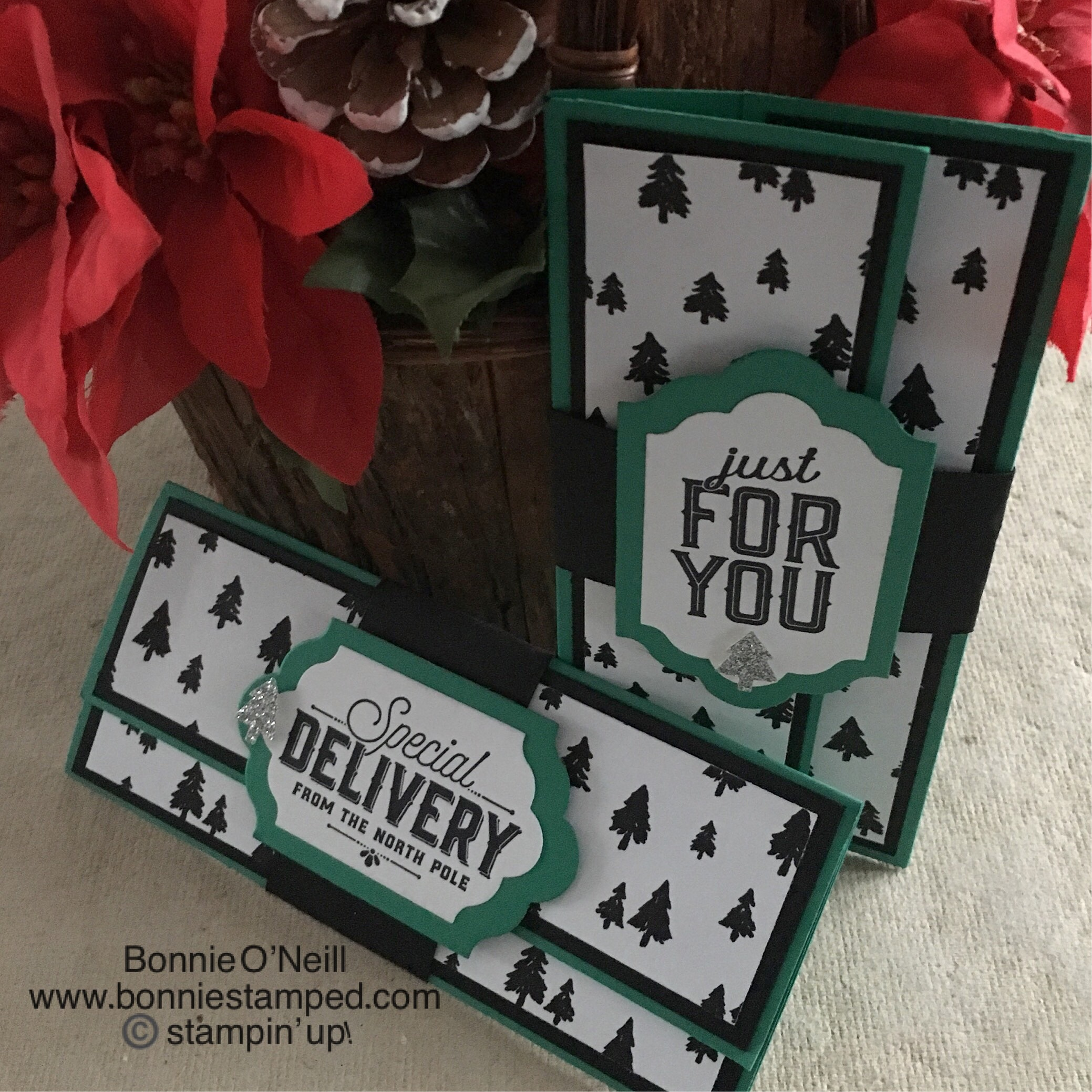 Merry Little Christmas Money Holder Bonnie Stamped