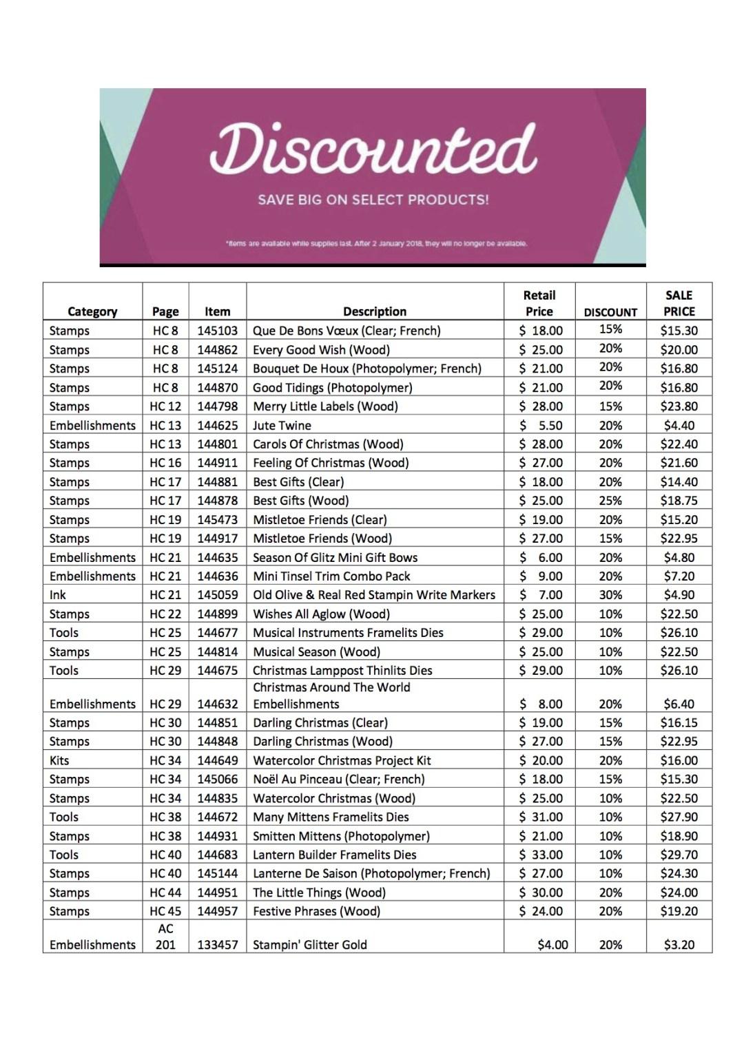 #discounteditems #stampinup #bonniestamped