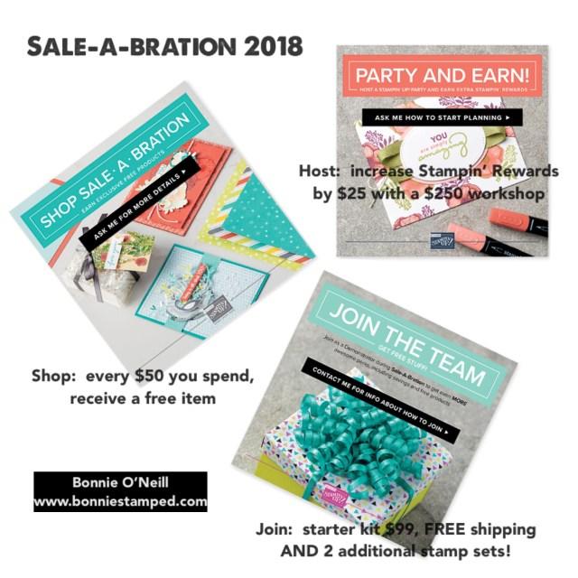 #sale-a-bration2018 #bonniestamped #stampinup