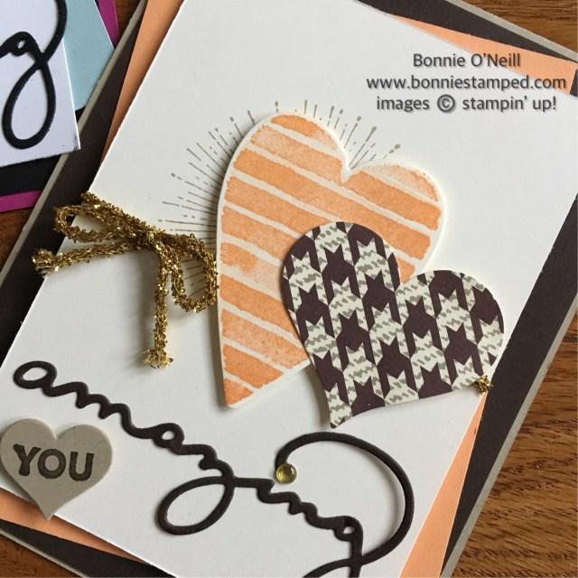 #hearthappiness #saleabration #amazingyou #stampinup #bonniestamped