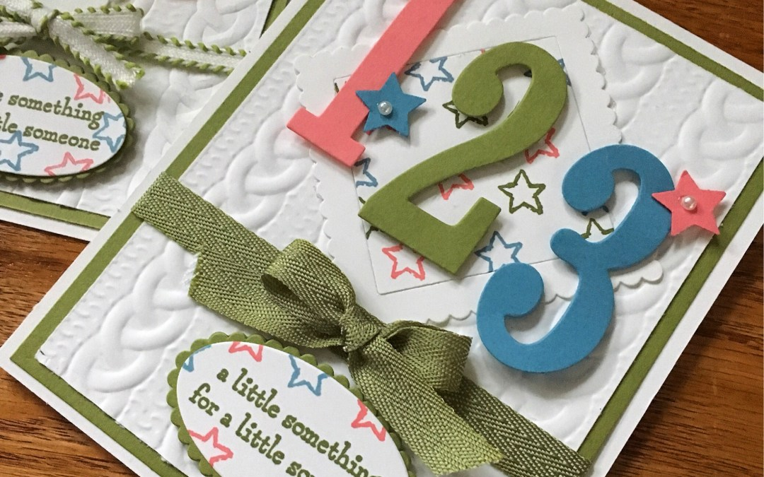 Mixing Big Shot items with Moon Baby Stamp Set