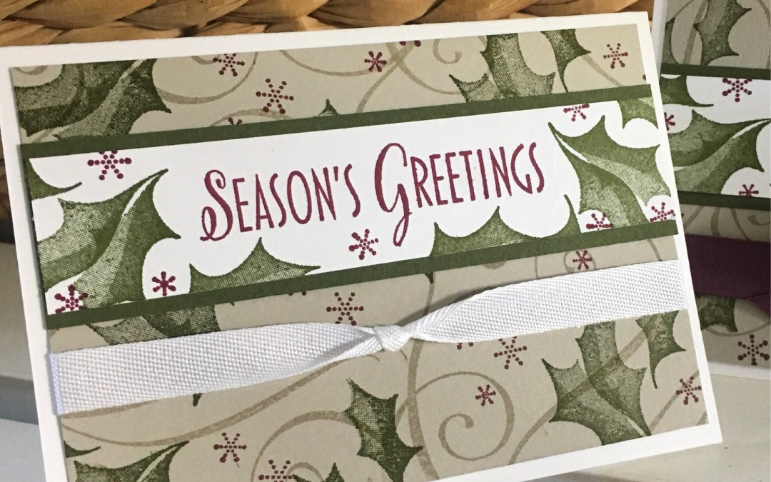 Holiday Card Club featuring Stylish Christmas Stamp Set