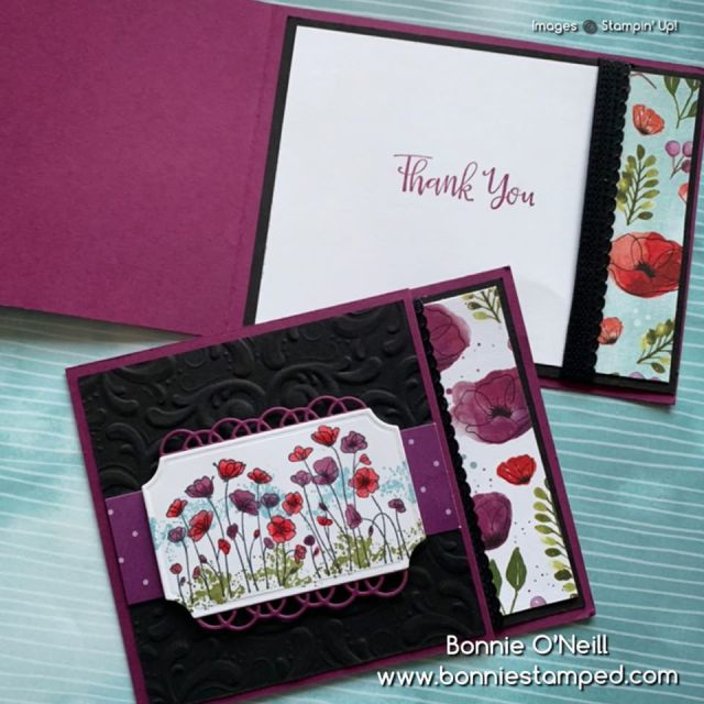 Painted Poppies Bundle with coordinating paper