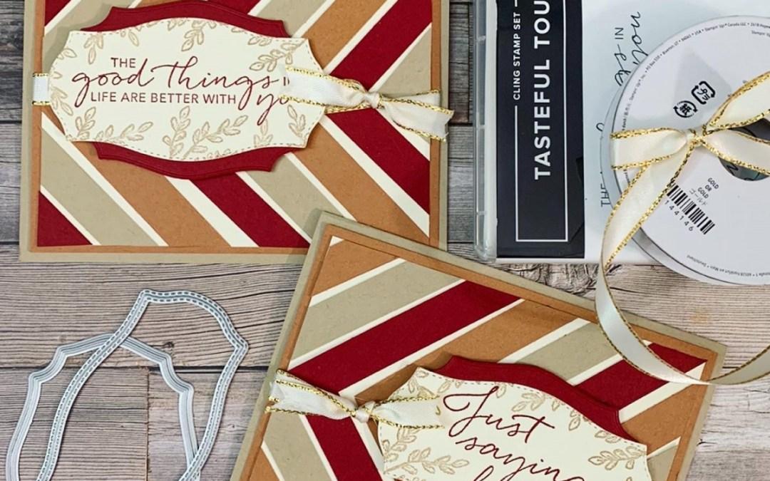 Diagonal Stripes on a card!