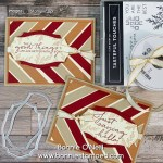 Diagonal Stripes on a card!