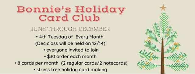 Holiday Card Club with Bonnie