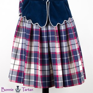 Aboyne Skirt shown in Bonnie Marine Tartan