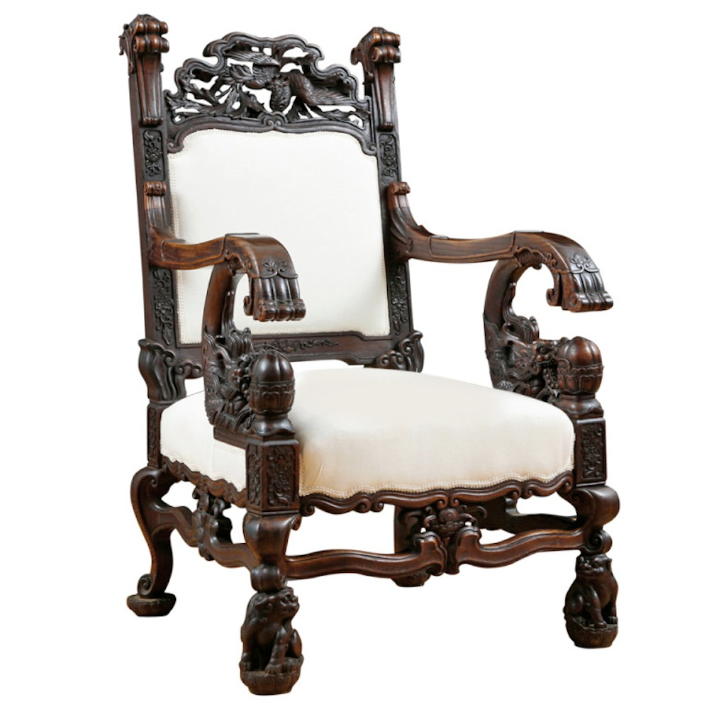 Dragon Chair Dragon Chair In Elaborately Carved Rosewood Bonnin Ashley