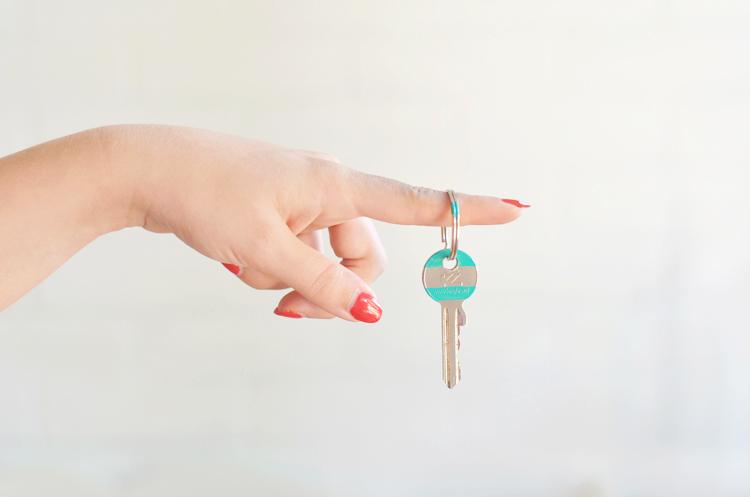 Schlüssel-bunt-bemalen