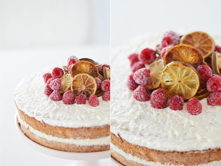 Limetten- Himbeer- Torte