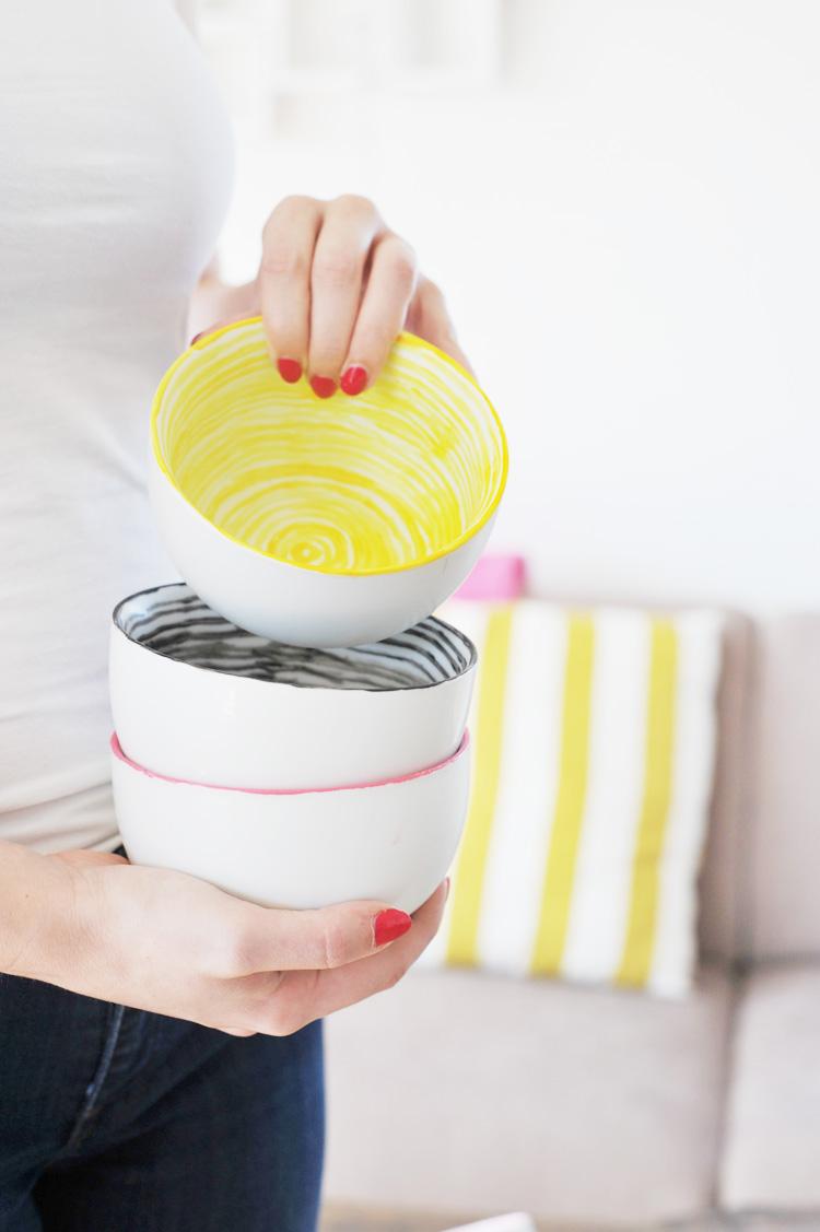 DIY: Handgemalte Schalen