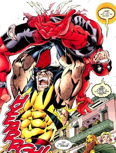 Wolverine soigne gentiment la psychose Hallucinatoire de Deadpool... (DeadPool #27 1997)