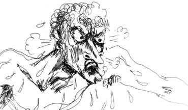 Roland furieux - croquis rapide de Sophie Guerrive