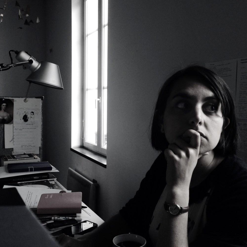 Giorgia Marras dans son atelier de la Maison des auteurs - Photo Alain François