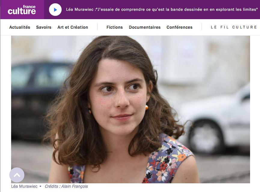Léa Murawiec sur France culture