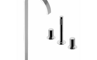 Bonomi 112331 Arco Floor Standing Bath Spout + Mixer