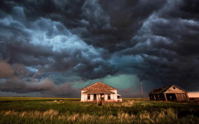 Rustic Fall Desktop Wallpaper Wallpapers Photo Storm Houses Cloudy Cyclone Force Of