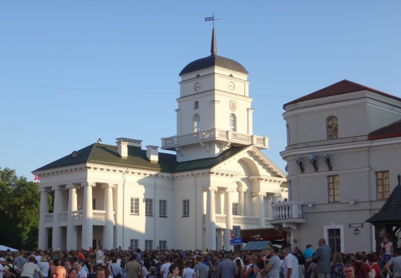 Unser Wochenende in Minsk - Altstädter Rathaus von Minsk
