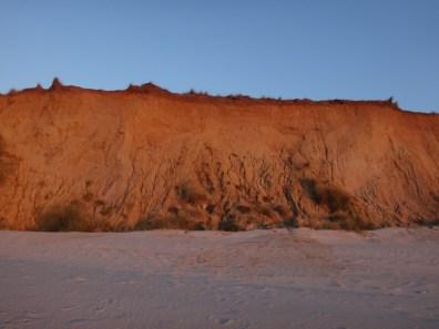 Rotes Kliff vor Kampen