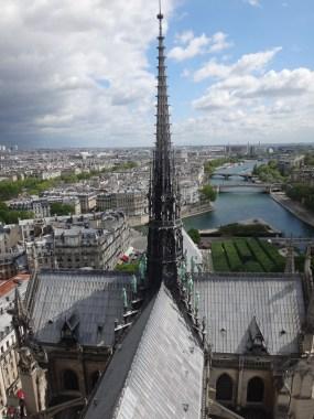 Blick über Notre Dame de Paris