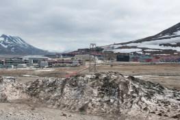 Blick nach Longyearbyen