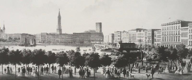 Jungfernstieg um 1850