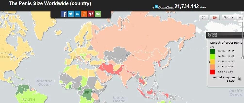 où est l'homme asiatique dans cette carte mondiale de la taille des sexes