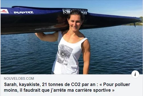 Kayak, sport olympique avec Sarah Guyot