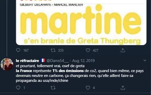 Excuse 4 : le whataboutisme : Ouais mais la France c'est que 1% des émissions, alors que les chinois, hein