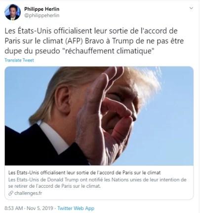 part de l'Homme dans le réchauffement climatique : remise en cause de Philippe Herlin