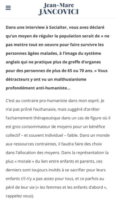 Réponse de Jancovici à Laurent Alexandre