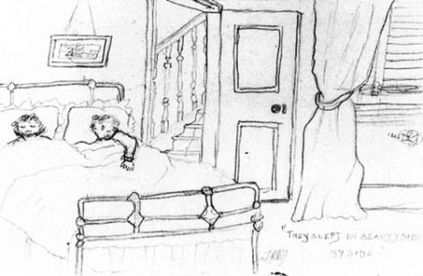 'They Slept in Beauty Side by Side', Karakalem Tolkien'in 1904 yılında, 12 yaşındayken yaptığı bir çizim.