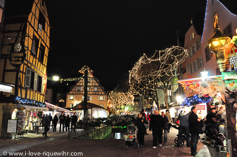 Evening in Colmar in December