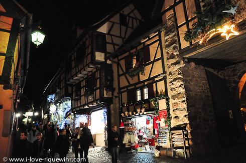 Upper part of the rue des Remparts, Riquewihr Alsace