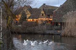 Ferme à l'Ecomusée d'Alsace au temps de Noël