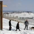 Promenade dans la neige autour de Riquewihr.