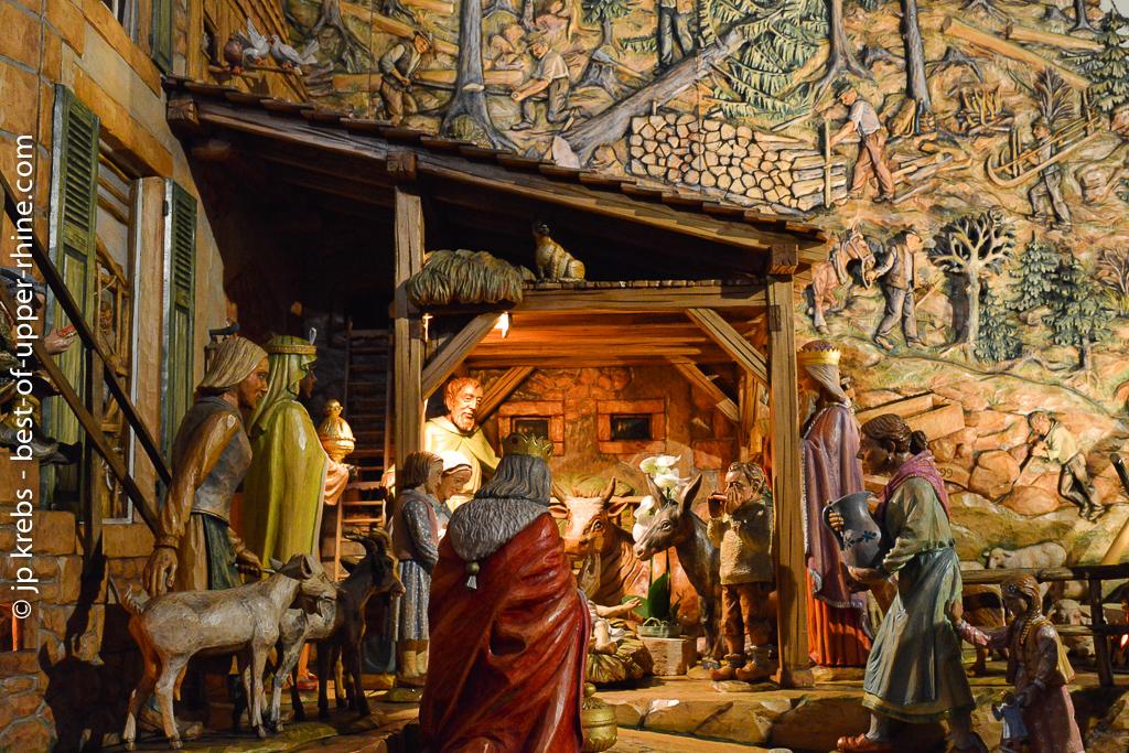 Crèche sculptée de Thannenkirch, Alsace