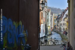 Couleurs pastel à Fribourg au pied de la Forêt Noire.
