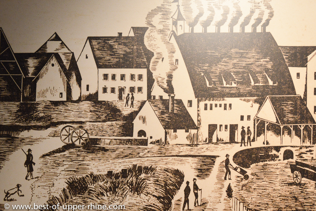 Verrerie de Meisenthal - gravure ancienne