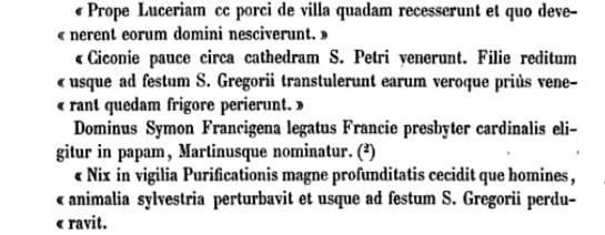 Les annales des Dominicains de Colmar mentionnent l'arrivée des cigognes