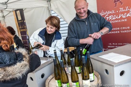 10e anniversaire de la première vinification au domaine Laurence & Philippe Greiner à Riquewihr