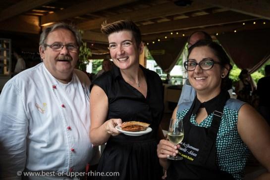 La tartine de filet de rouget et concassé de tomates proposée par le restaurant Au Mouton